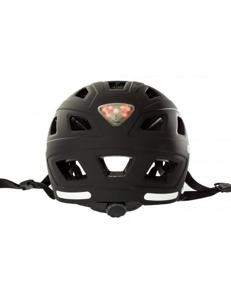 Casque ABUS Hyban Noir avec LED Arrière
