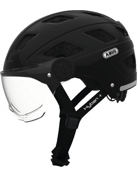 Casque ABUS Hyban Noir avec LED Arrière et Visière
