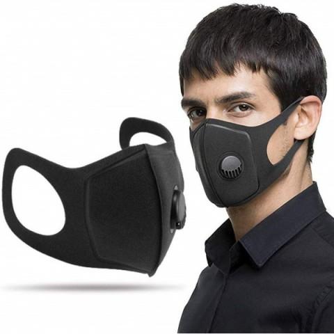 Masque de Protection Lavable & Réutilisable avec Valve D'expiration