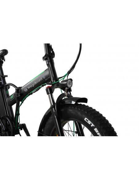 Velo electrique pliable Fatbike Noir/Vert