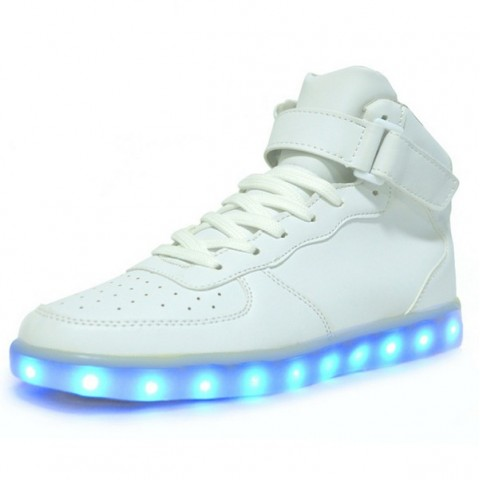 Chaussure led montante - Blanche