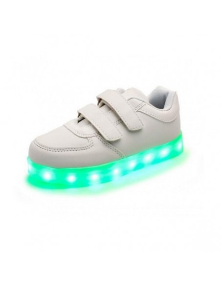 Chaussure led scratch Blanche