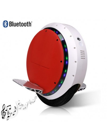 Monocycle électrique Uno+ Bluetooth ♬ Blanc