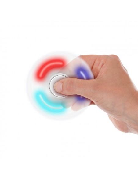 Hand Spinner Led Blanc