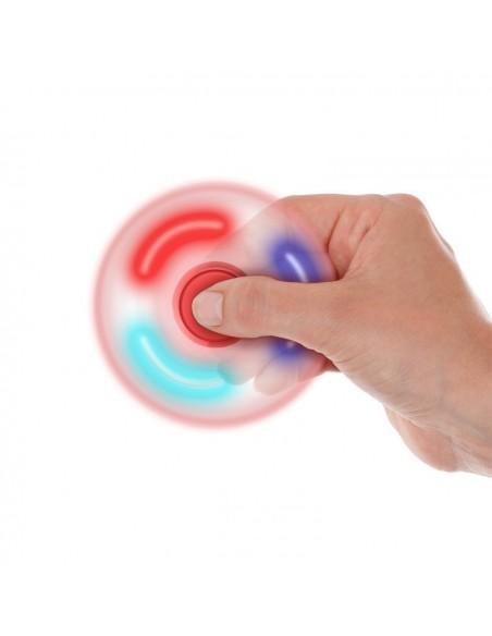 Hand Spinner Led Rouge