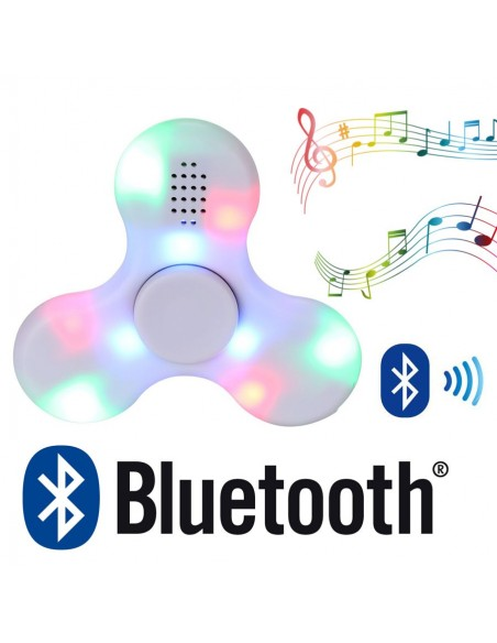 Hand Spinner Bluetooth ♬ Led Blanc