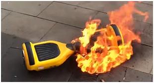 hoverboard en feu